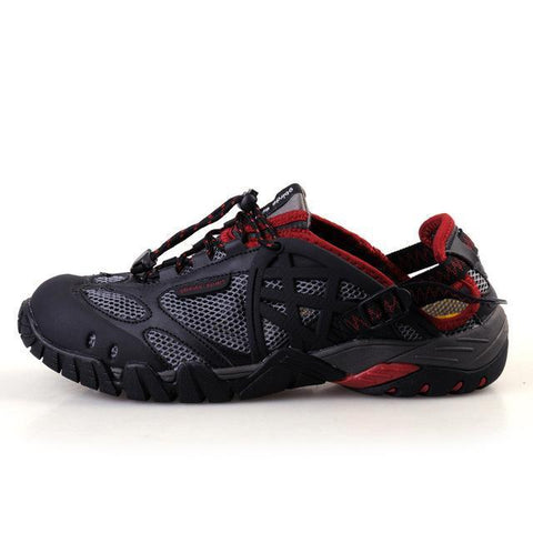 ifrich Official Store Hiking Shoes Black Red / 4 DICE UNISEX WATERPROOF & BREATHABLE SHOES