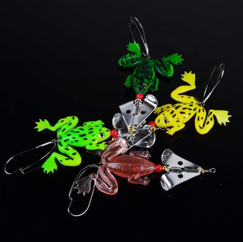Lingyue Fishing Tackle Co.,Ltd 4 Frog Fishing Lures - Catch the BIG Stuff!