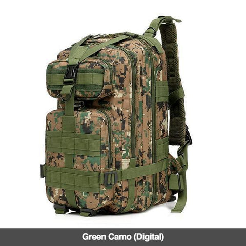 LuLu Fitness Store Climbing Bags Green Camo Digital Military Style Outdoor 30L Waterproof Rucksack/Backpack