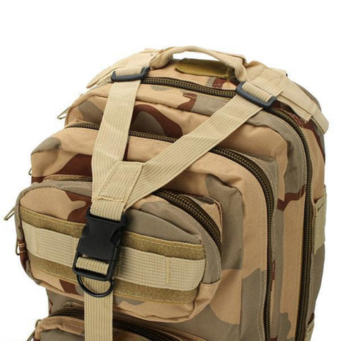 LuLu Fitness Store Climbing Bags Sand Camo Military Style Outdoor 30L Waterproof Rucksack/Backpack