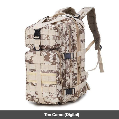 LuLu Fitness Store Climbing Bags Tan Camo Digital Military Style Outdoor 30L Waterproof Rucksack/Backpack