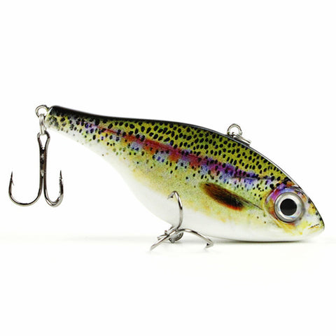 "3.1"" Vib Fishing Lure Hard Crankbait Lifelike Fish Bait"