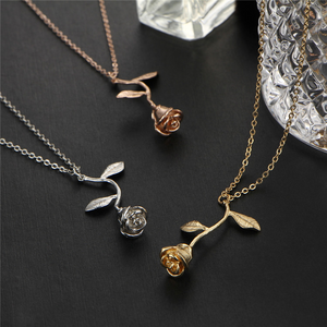 Single Stem Rose Necklace FREE Special Promotion