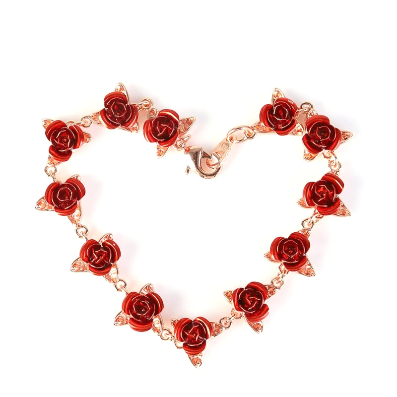 Red Rose Bracelet (3 Finishes)