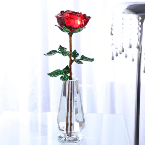 Crystal Glass Enchanted Rose (4 Colors)