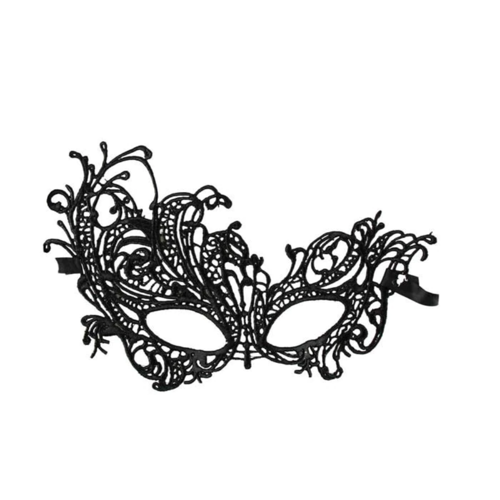 Lace Masquerade Mask Half Face (Black or White)