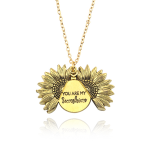 *Custom 2-4 weeks to make* You Are My Sunshine Sunflower Pendant Necklace