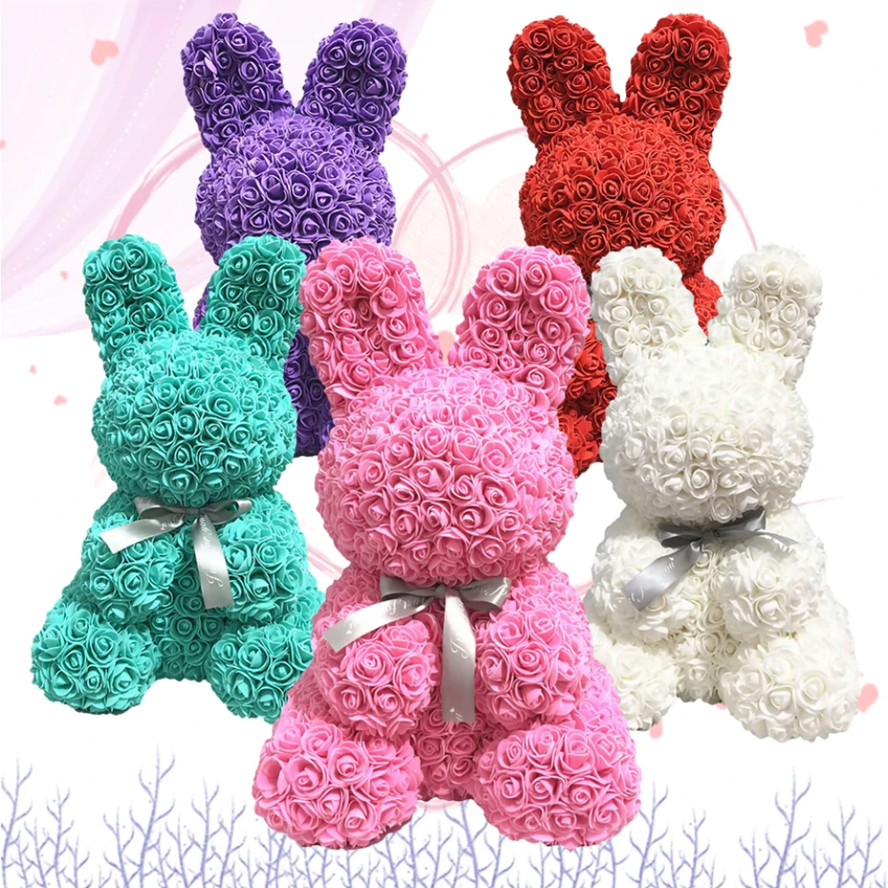 Enchanted Forever Rose Bunny Rabbit Plush (5 Colors)