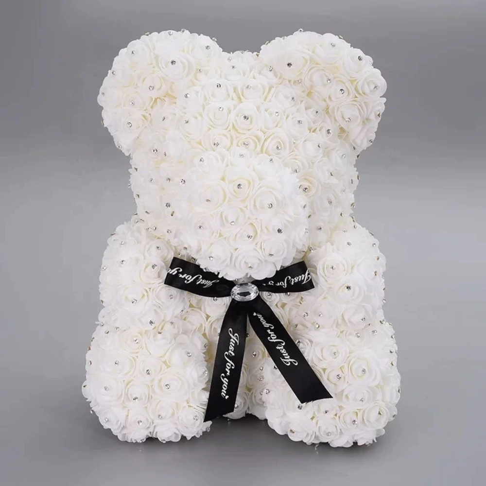 Limited Edition Diamond Enchanted Forever Rose Heart Teddy Bear (16 Colors) L & XL
