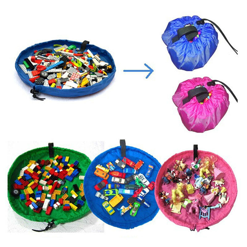 Mini Play Mat Storage Bag for Building Blocks Display