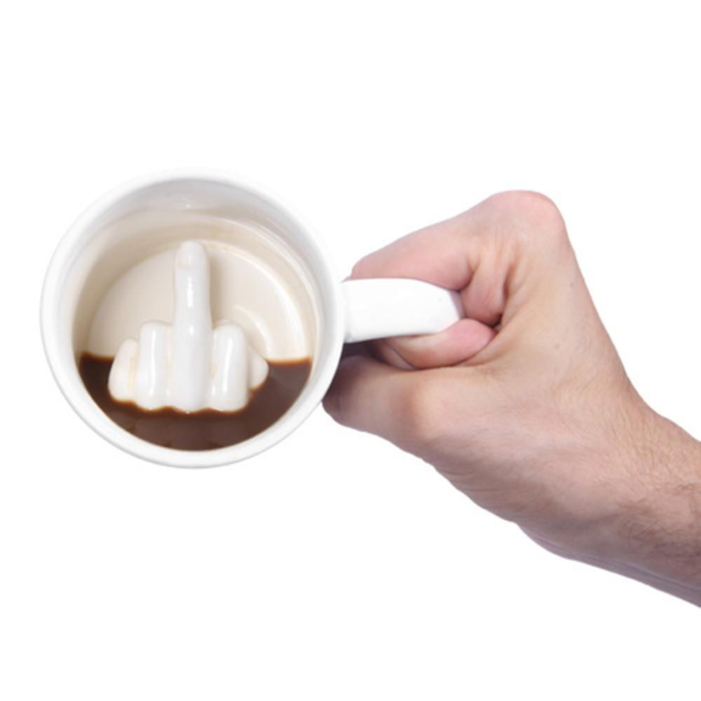 "Limited Edition ""Middle Finger"" 3d Prank Mug"