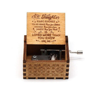 Dad To Daughter - You Are Loved More Than You Know - Engraved Music Box