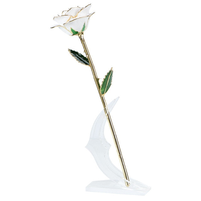 Preserved 24k Gold Long Stem Immortal Rose (16 Colors)