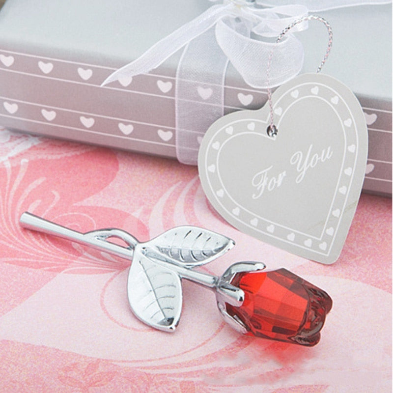 Mini Crystal Rose w/Gift Box (6 Colors)