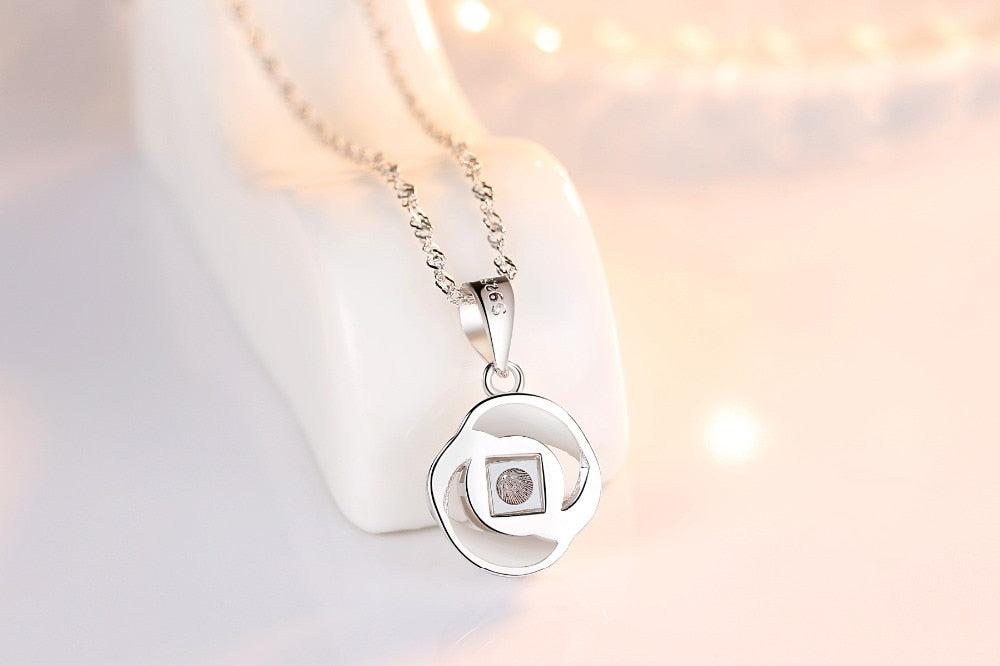 """I Love You"" Forever 100 Language Micro Projection Necklace 925 Sterling Silver (12 Styles)"
