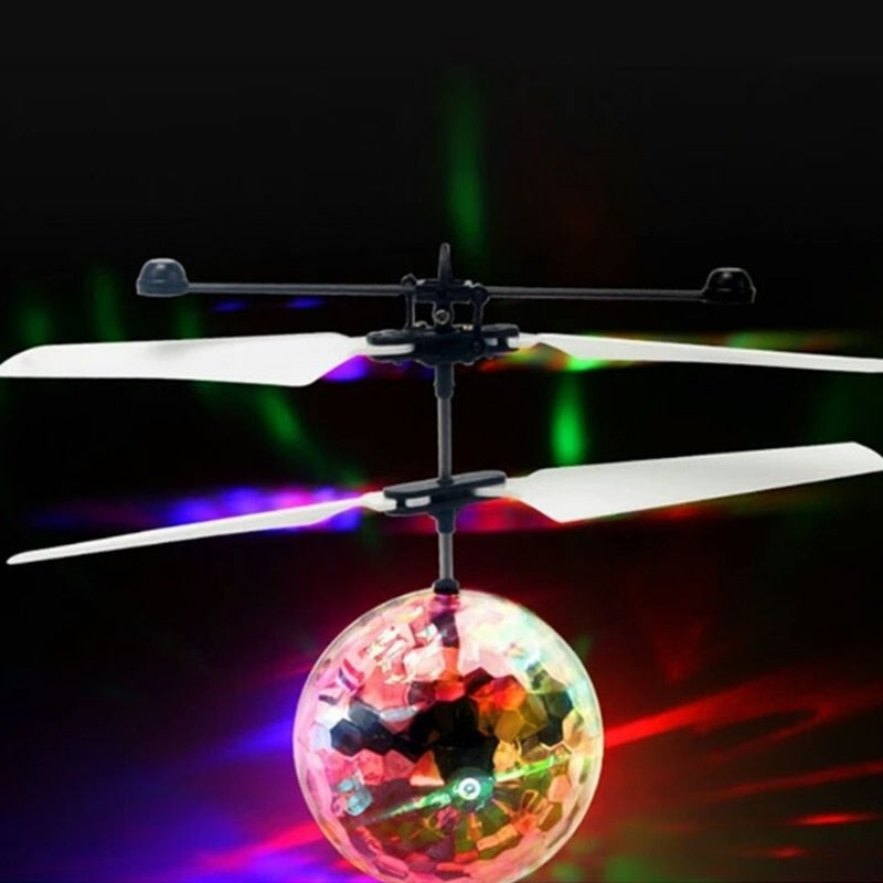 Gesture Sensing Quad-copter Induction Heli Sphere