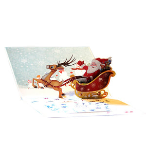 Santa's Sleigh 3D Pop Up Gift Card