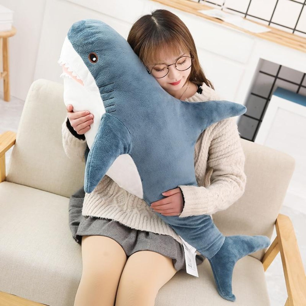 Shark Pillow Plush 3D Stuffed Animal (3 Sizes)