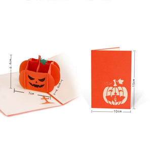 Halloween Pumpkin 3D Pop Up Gift Card