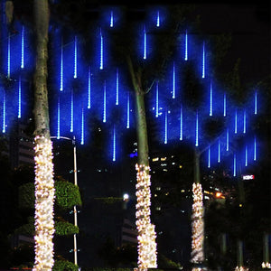 Snowfall LED Lights (3 Sizes) White, Blue or Multi-color [US or EU Plug]