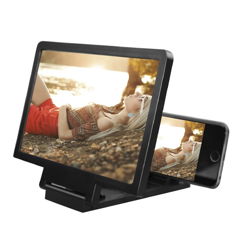 3D Portable Universal Foldable Screen Amplifier (Black or White)