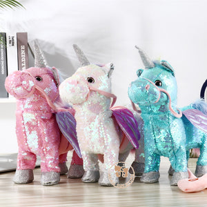 Sequin Magical Walking Singing Unicorn (3 Colors)