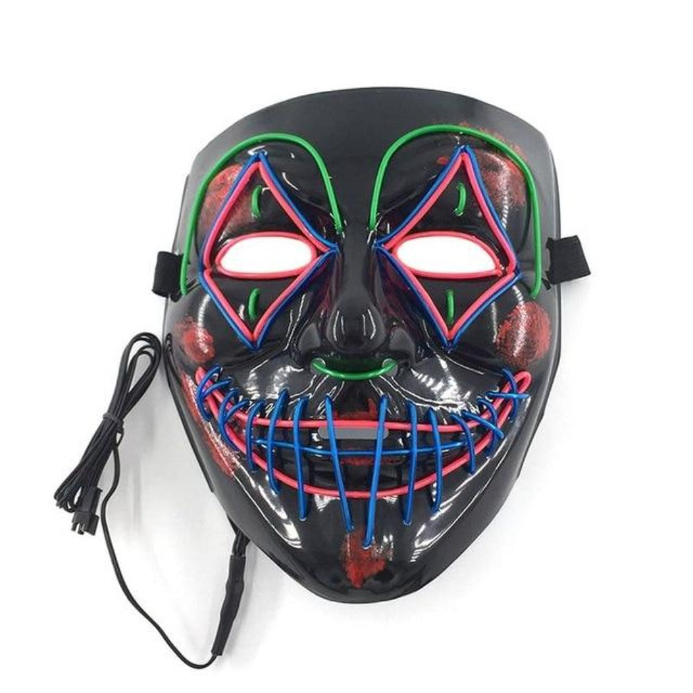 Clown LED Halloween Mask