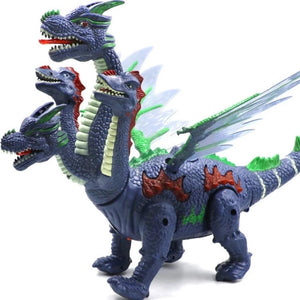 Electronic LED Walking Hydra Dinosaur Dragon Lays Eggs (Red or Blue)
