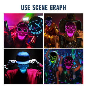 LED Purge Skull Halloween Mask (5 Colors)