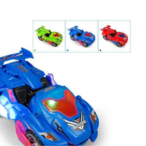 LED Dinosaur Transformation Car Toy (Random Color)