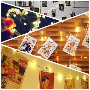 LED Indoor Photo Fairy Copper Lights Kit (3 Sizes)