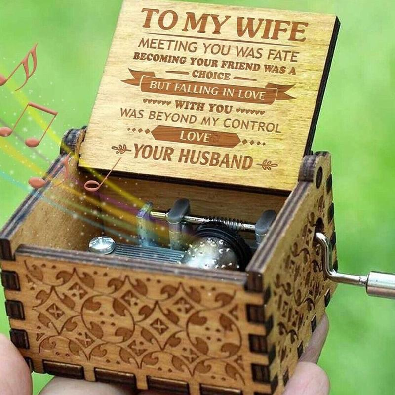 Husband to Wife - You Are Loved More Than You Know - Engraved Music Box