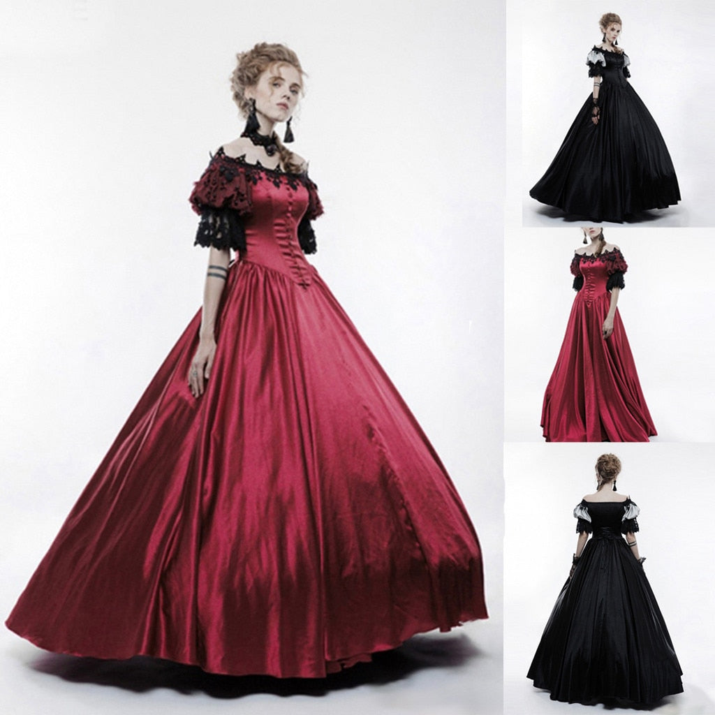 Darkest Night Victorian Renaissance Dress Costume (2 Colors)