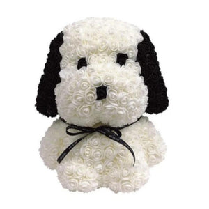 *Back Ordered Until 2/15/20* Beagle Enchanted Forever Rose Puppy Dog Plush (6 Colors)