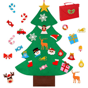 DIY 3D Felt Christmas Tree (5 Designs)
