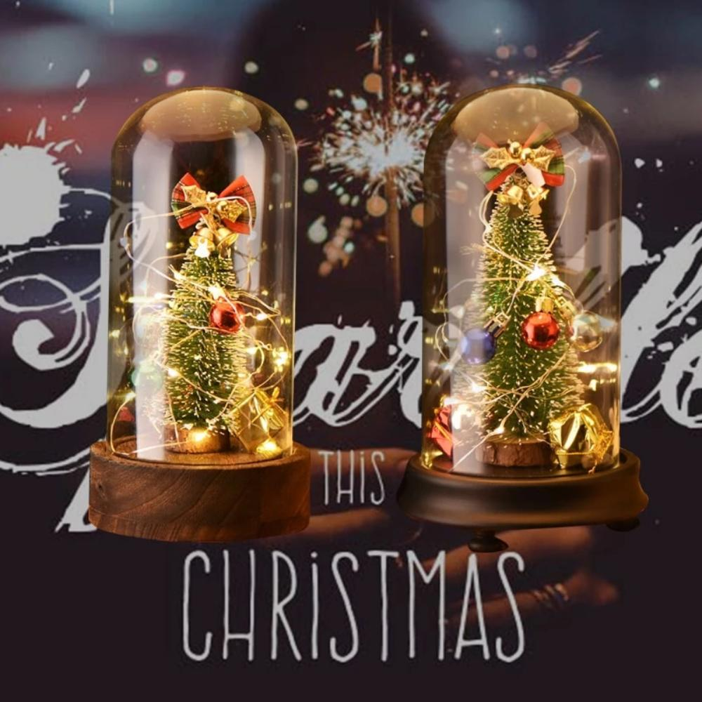 Holiday Christmas Enchanted LED Glass Dome Display (4 Styles) Music Box