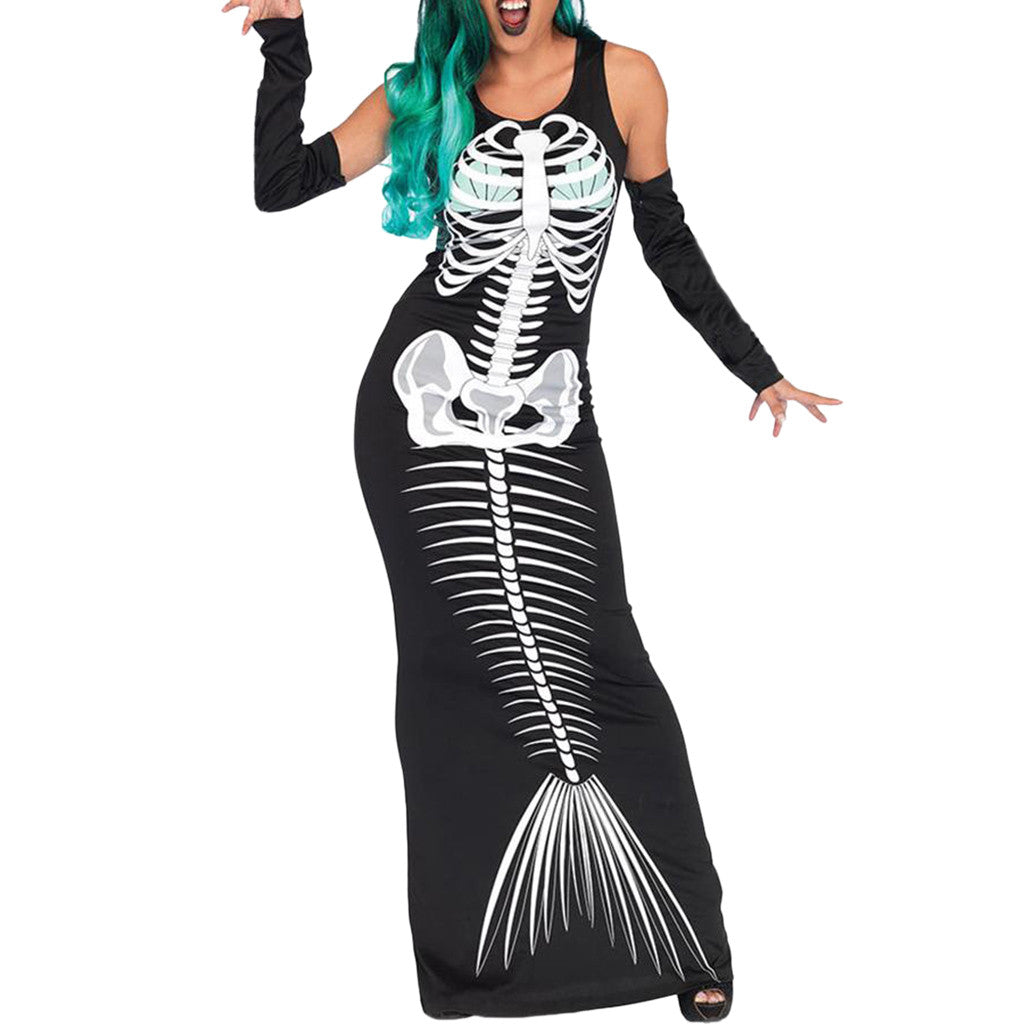Mermaid Skeleton Dress Halloween