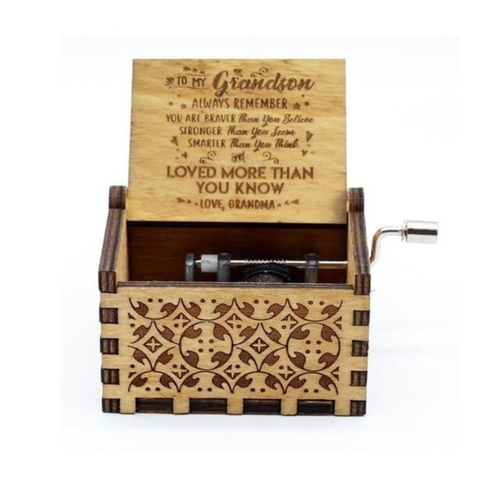 Grandma to Grandson - You Are Love More Than You Know - Engraved Music Box
