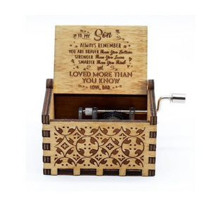 To Son From Dad - You Are Braver Than You Believe and Loved More Than You Know - Engraved Music Box