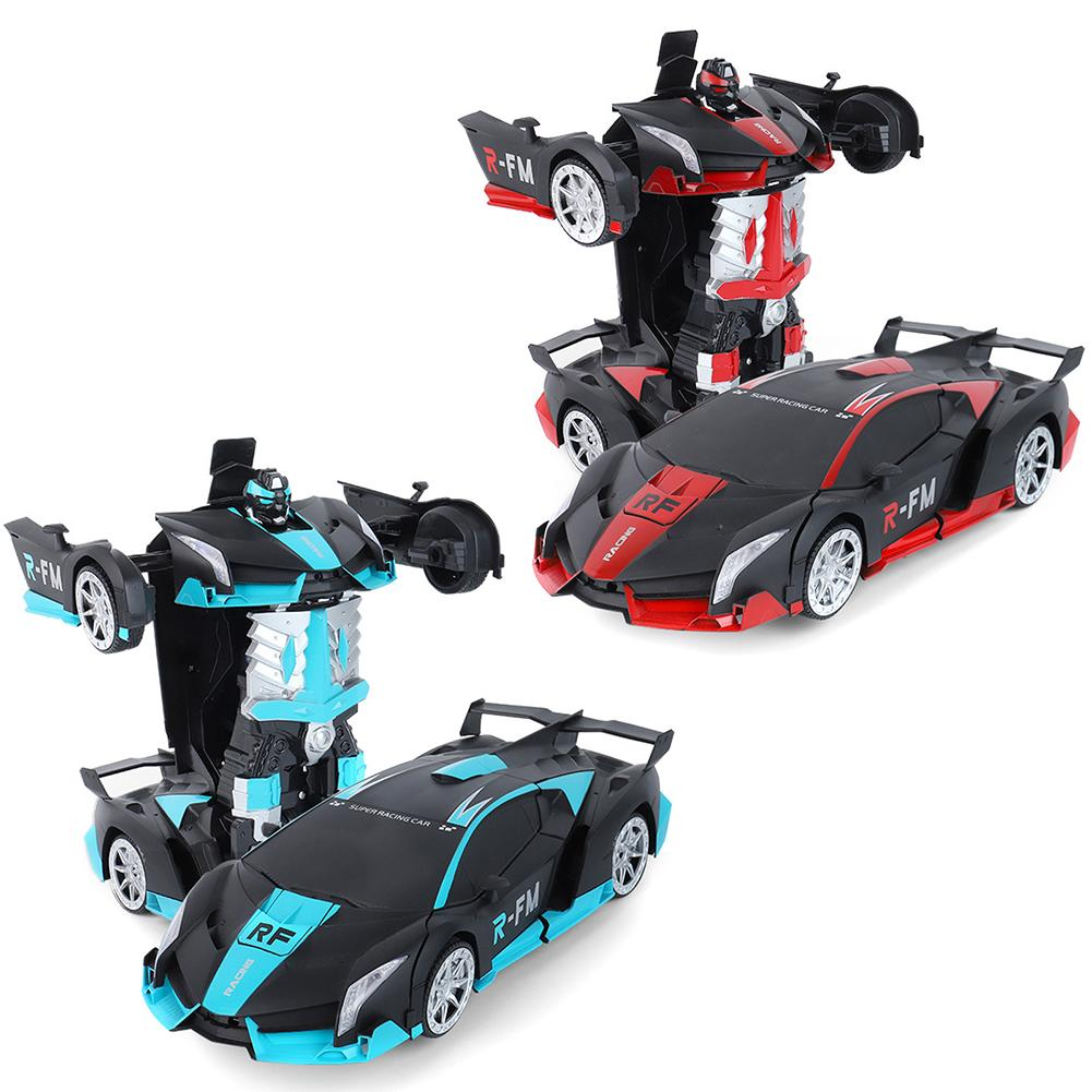 XL Remote Control Robot One Button Transformation Car Toy (Blue & Red) New Colors