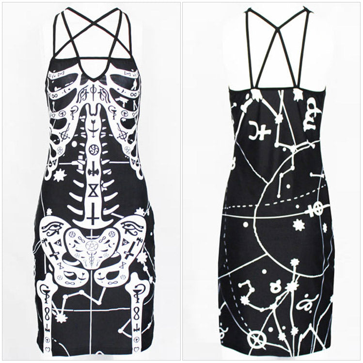 Pentagram Skeleton Occult Dress