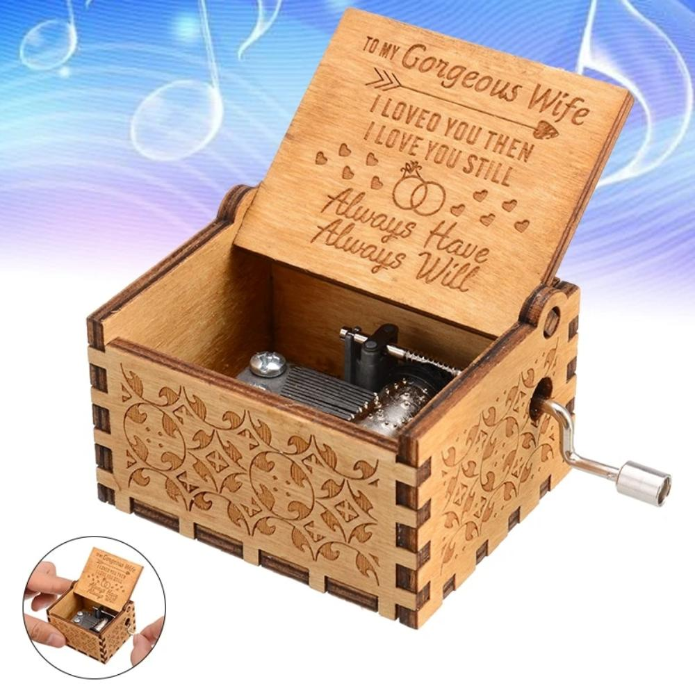 Husband to Wife - I Loved You Then I Love You Still - Engraved Music Box