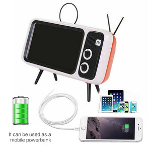 3 In 1 Retro TV Mobile Phone Holder with Bluetooth Speaker & Power Bank (3 Colors)