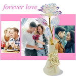 "Multicolor 24k ""Galaxy"" Gold Rose Love Light Up With Vase"