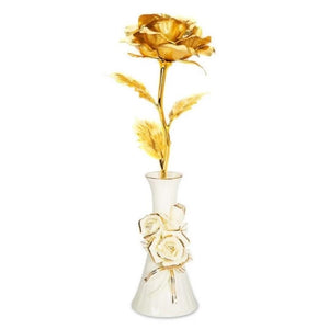 "Multicolor 24k ""Galaxy"" Gold Rose Love Light Up With Vase (May Arrive After Mothers Day)"