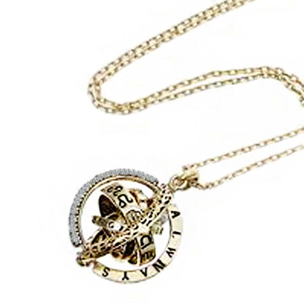 """I Love You"" Forever (Astrological Sphere) 100 Language Micro Projection Necklace (Gold or Silver)"