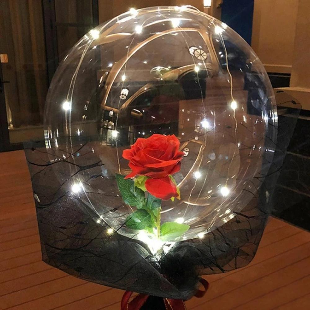 DIY Rose Balloon Bouquet Kit w/LED Fairy Lights