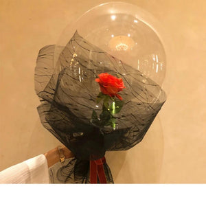 Enchanted Red Rose In Balloon LED Light Wedding Valentine/'s Day Her Mon DIY Gift