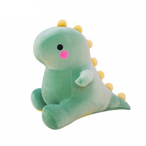 Chibi Dino T Rex Pillow Plush 3D Stuffed Animal (Pink, Yellow or Green) 4 Sizes