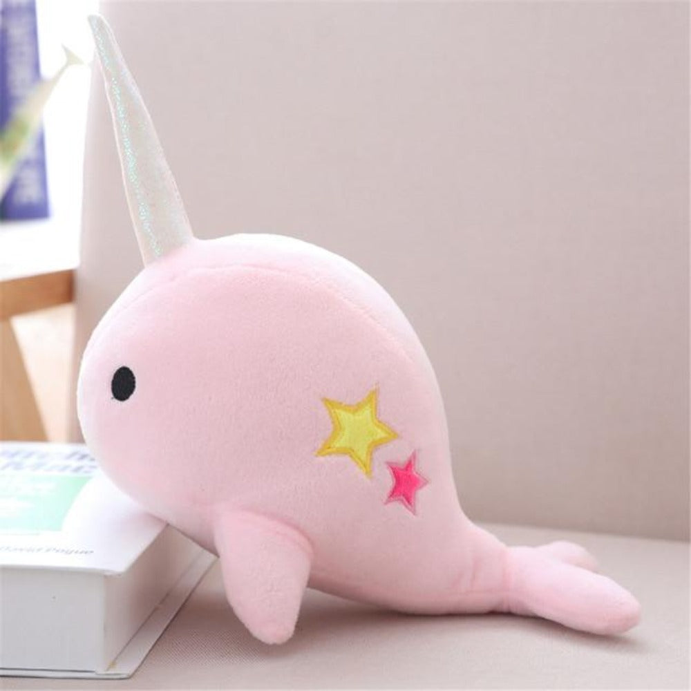 Kawaii Narwhal Whale Pillow Plush 3D Stuffed Animal (2 Sizes) 3 Colors